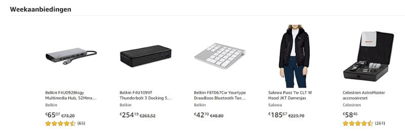 Amazon weekaanbiedingen