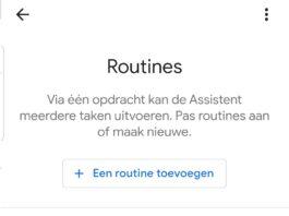 google home routines in Nederland
