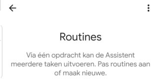google home routines in Nederland
