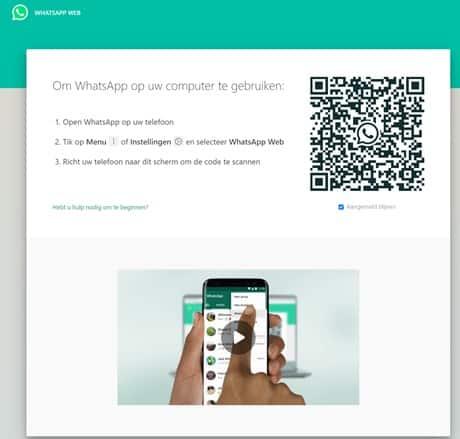 whatsapp op computer gebruiken